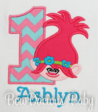 Trolls Birthday Shirt or Onesie, Custom, Any Age/Colors