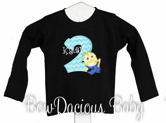 Despicable Me Personalized Age Tshirt Birthday Shirt or Onesie