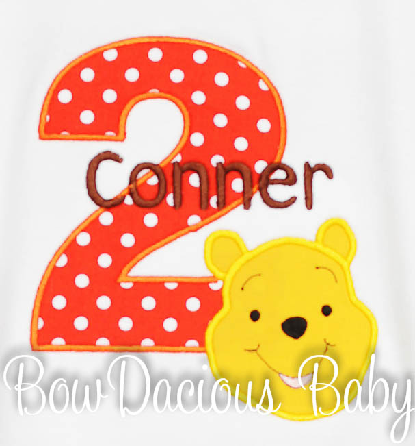 Winnie the Pooh Birthday Shirt