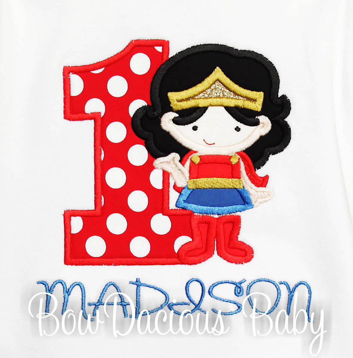 Girls Wonder Woman Birthday Shirt Or