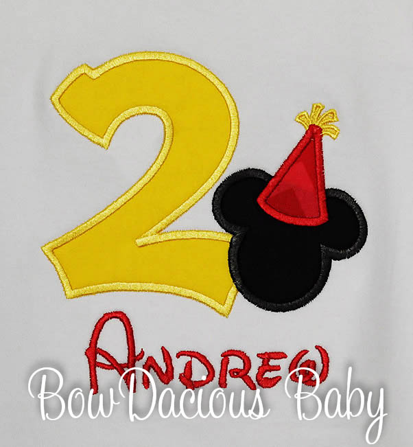 Mickey Mouse Shirt for First Birthday Party, Any Age, Shirt or Onesie