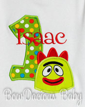 Custom Boys Yo Gabba Gabba Birthday Shirt or Onesie, Any Age