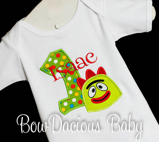 Custom Boys Yo Gabba Gabba Birthday Shirt or Onesie, Any Age