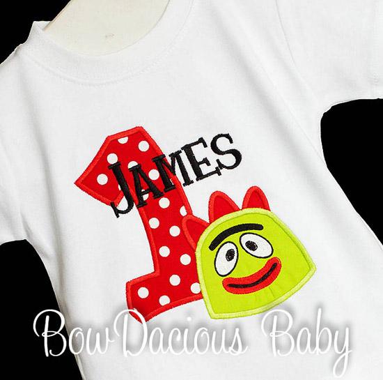 Boys Yo Gabba Gabba Birthday Shirt or Onesie, Custom, Any Age
